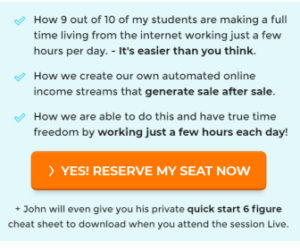 Webinar with a top clickbank seller for a successful home based business