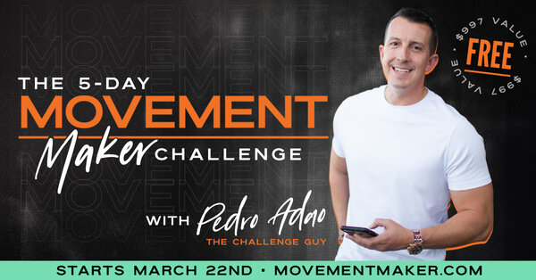 Pedro promoting his 5 day movement challengefor growing business
